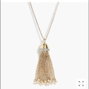 J Crew Pearl and Tassel Necklace